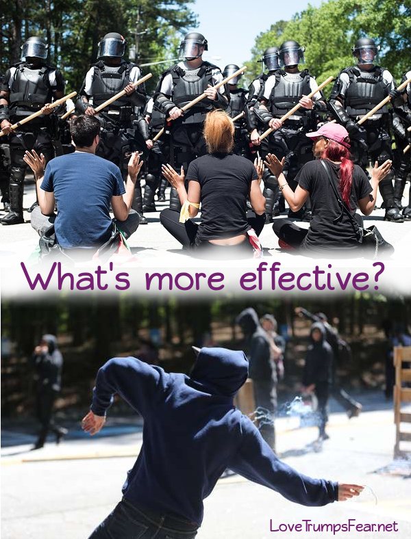 What's more effective? Peace or Violence?