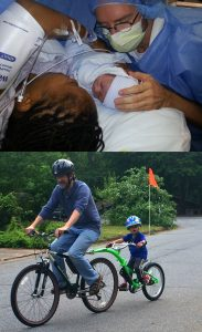From newborn to bike rider