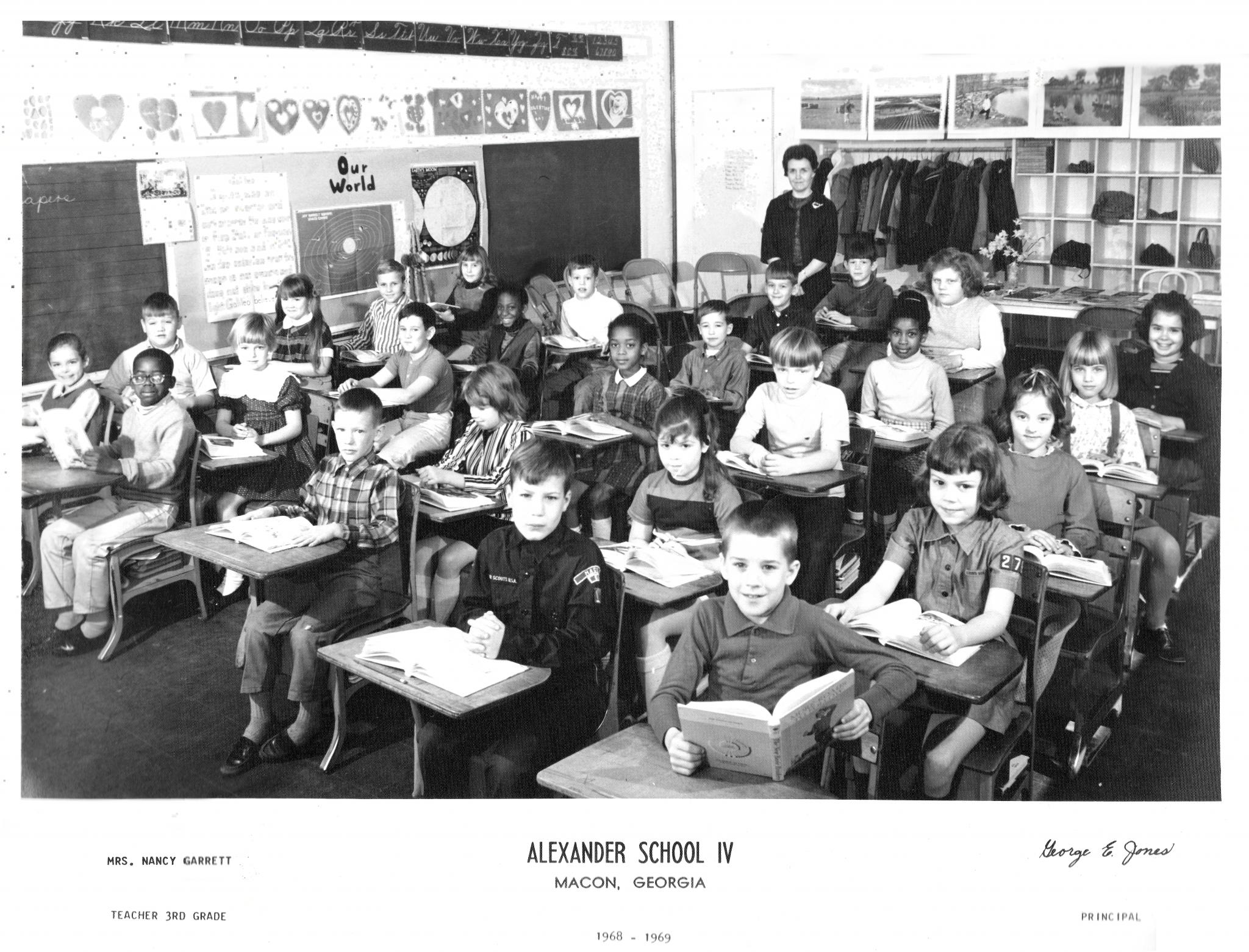 Macon GA Alexander IV Nancy Garrett 3rd grade 1968-1969