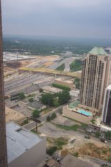 The Banana Bridge almost finished Downtown Atlanta 2003