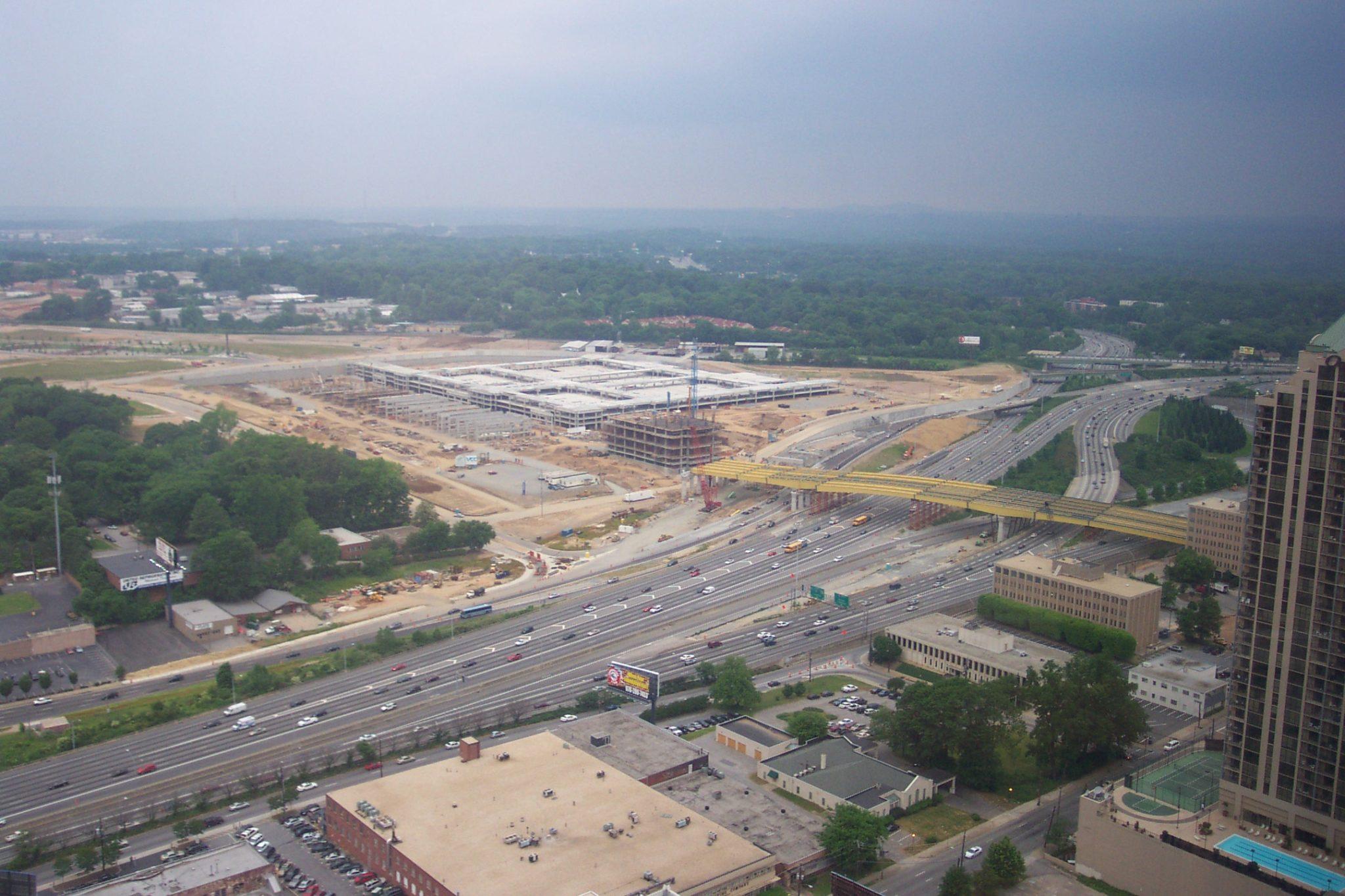 Atlantic Station being built in Atlanta 2003